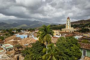 An Elevated View of the Terracotta Roofs and the Bell Tower of the Museo Nacional De La Lucha by Yadid Levy