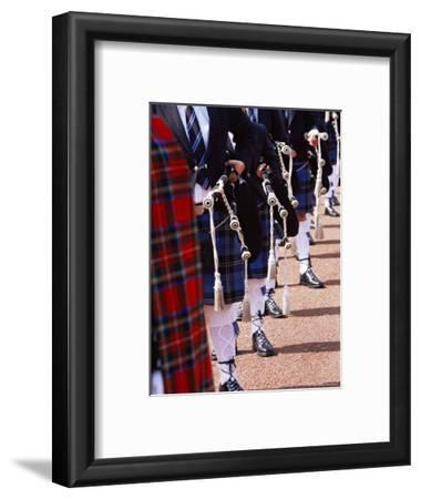 Bagpipe Players with Traditional Scottish Uniform, Glasgow, Scotland, United Kingdom, Europe