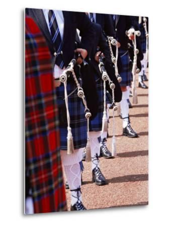 Bagpipe Players with Traditional Scottish Uniform, Glasgow, Scotland, United Kingdom, Europe