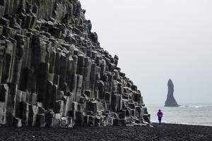 Basalt Columns at the Beach, Vik I Myrdal, Iceland, Polar Regions by Yadid Levy