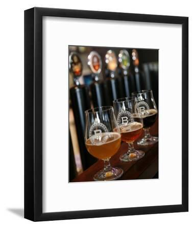 Beer Glasses at the Broggeriet Brewery in Sonderborg, Jutland, Denmark, Scandinavia, Europe
