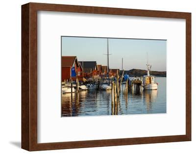 Boats and Timber Houses, Grebbestad, Bohuslan Region, West Coast, Sweden, Scandinavia, Europe