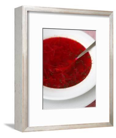 Borscht, a Traditional Russian Beetroot Soup, Moscow, Russia, Europe