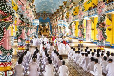 Cao Dai Temple, Tay Ninh, Vietnam, Indochina, Southeast Asia, Asia