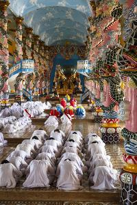 Cao Dai Temple, Tay Ninh, Vietnam, Indochina, Southeast Asia, Asia by Yadid Levy