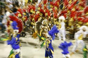 Carnival Parade at the Sambodrome, Rio de Janeiro, Brazil, South America by Yadid Levy