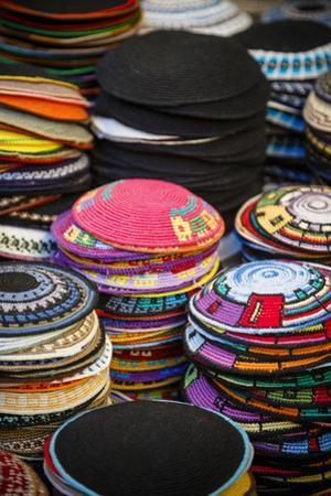 Colourful Kipas, Jerusalem, Israel, Middle East