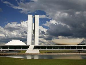 Congresso Nacional (Nat'l Congress) by Oscar Niemeyer, Brasilia, UNESCO World Heritage Site, Brazil by Yadid Levy