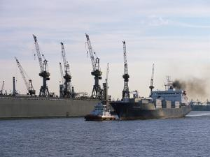 Cranes, Port of Hamburg, Hamburg, Germany by Yadid Levy