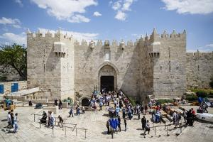 Damascus Gate in the Old City, UNESCO World Heritage Site, Jerusalem, Israel, Middle East by Yadid Levy