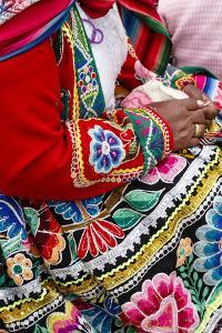 Detail of a Traditional Quechua Dress, Cuzco, Peru, South America by Yadid Levy