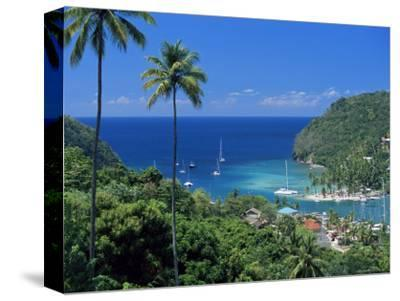 Elevated View Over Marigot Bay, Island of St. Lucia, Windward Islands, West Indies, Caribbean