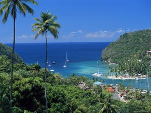 Elevated View Over Marigot Bay, Island of St. Lucia, Windward Islands, West Indies, Caribbean by Yadid Levy