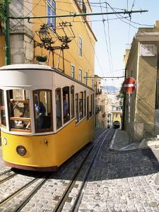 Funicular at Elevador Da Bica, Lisbon, Portugal by Yadid Levy