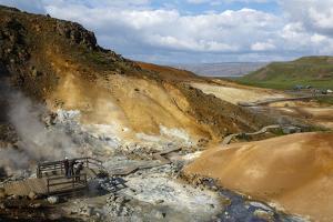 Geothermal Fields at Krysuvik, Reykjanes Peninsula, Iceland, Polar Regions by Yadid Levy