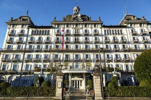 Grand Hotel Des Iles Borromees, Stresa, Lake Maggiore, Piedmont, Italy, Europe by Yadid Levy