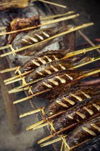 Grilled Fish, Luang Prabang, Laos, Indochina, Southeast Asia, Asia by Yadid Levy