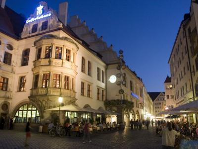 Hofbrauhaus Restaurant at Platzl Square, Munich's Most Famous Beer Hall, Munich, Bavaria, Germany