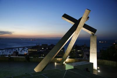 Largo da Cruz Quebrada (Fallen Cross), Pelourinho, Salvador (Salvador de Bahia), Bahia, Brazil