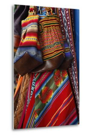 Local Carpets Made of Llama and Alpaca Wool for Sale at the Market, Cuzco, Peru, South America