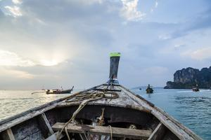 Longtail Boat, Railay Beach, Krabi, Thailand, Southeast Asia, Asia by Yadid Levy