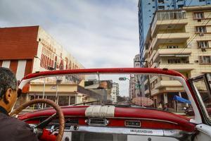 Old American Vintage Car, Havana, Cuba, West Indies, Caribbean, Central America by Yadid Levy