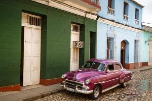 Old American Vintage Car, Trinidad, Sancti Spiritus Province, Cuba, West Indies by Yadid Levy