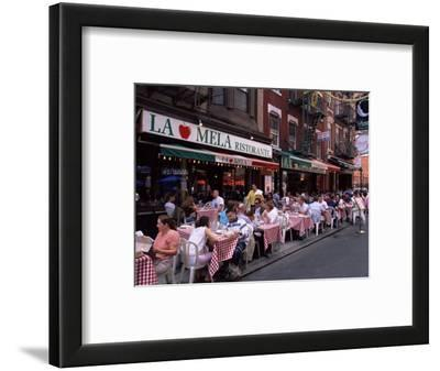 People Sitting at an Outdoor Restaurant, Little Italy, Manhattan, New York State
