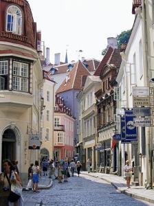 Pikk Street, Old Town, Tallinn, Estonia, Baltic States by Yadid Levy