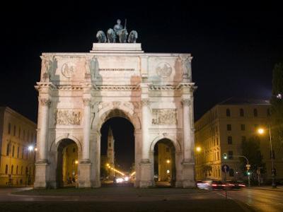 Siegestor (Victory Gate), Munich, Bavaria, Germany by Yadid Levy
