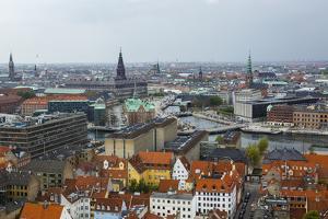 Skyline of Copenhagen, Denmark, Scandinavia, Europe by Yadid Levy