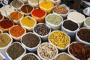 Spice Stall at Mapusa Market, Goa, India, Asia by Yadid Levy