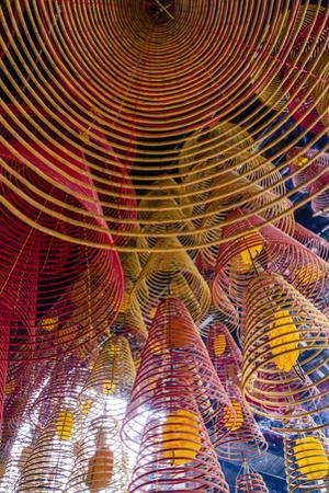 Spiral Incense Sticks at Ong Temple, Can Tho, Mekong Delta, Vietnam, Indochina