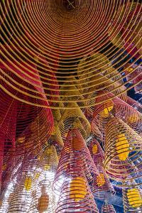Spiral Incense Sticks at Ong Temple, Can Tho, Mekong Delta, Vietnam, Indochina by Yadid Levy