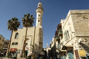 Street Scene in Bethlehem, West Bank, Palestine Territories, Israel, Middle East by Yadid Levy