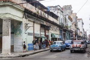 Street Scene in Centro Havana, Havana, Cuba, West Indies, Caribbean, Central America by Yadid Levy