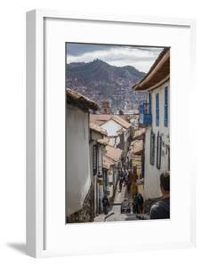 Street Scene in San Blas Neighbourhood, Cuzco, UNESCO World Heritage Site, Peru, South America by Yadid Levy