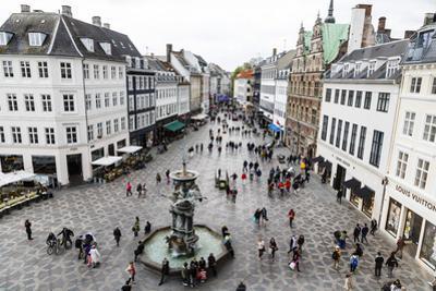 Stroget, the Main Pedestrian Shopping Street, Copenhagen, Denmark, Scandinavia, Europe