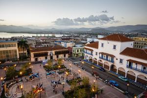 The Ayuntamiento Building at Parque Cespedes, Santiago De Cuba, Cuba, West Indies, Caribbean by Yadid Levy