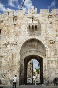 The Lions Gate in the Old City, UNESCO World Heritage Site, Jerusalem, Israel, Middle East by Yadid Levy