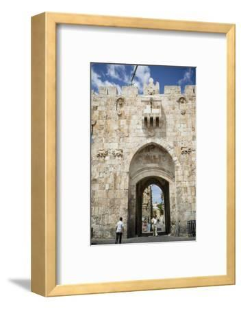 The Lions Gate in the Old City, UNESCO World Heritage Site, Jerusalem, Israel, Middle East