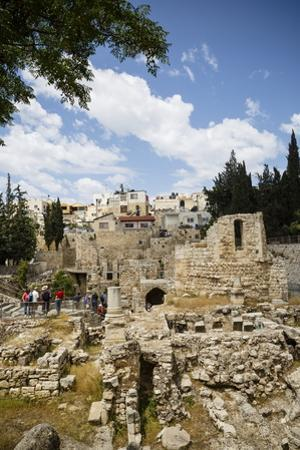 The Pool of Bethesda, the Ruins of the Byzantine Church, Jerusalem, Israel, Middle East