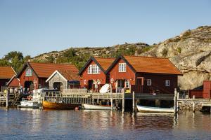 Timber Houses, Grebbestad, Bohuslan Region, West Coast, Sweden, Scandinavia, Europe by Yadid Levy