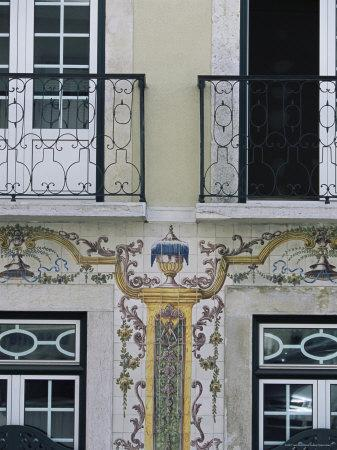 Typical Azulejos (Painted Tiles), Lisbon, Portugal