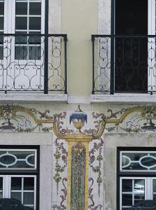 Typical Azulejos (Painted Tiles), Lisbon, Portugal by Yadid Levy