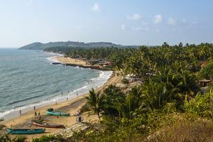 View over Anjuna Beach, Goa, India, Asia by Yadid Levy
