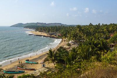 View over Anjuna Beach, Goa, India, Asia