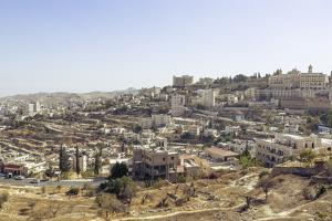 View over Bethlehem and the West Bank, Palestine Territories, Israel, Middle East by Yadid Levy