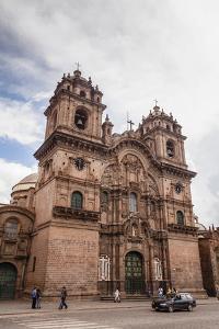 View over Iglesia De La Compania De Jesus Church on Plaza De Armas, Cuzco, Peru, South America by Yadid Levy
