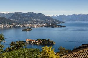 View over Isola Bella, Borromean Islands, Lake Maggiore, Italian Lakes, Piedmont, Italy, Europe by Yadid Levy